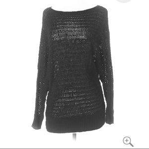 NWT black crochet sweater from Lime Lush Boutique